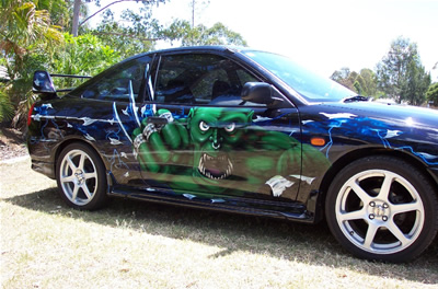 Custom Airbrushed Cars on Airbrushing  Custom Graphics  Custom Car Graphics  Car Show Graphics